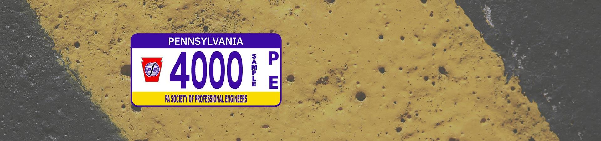 PSPE License Plates